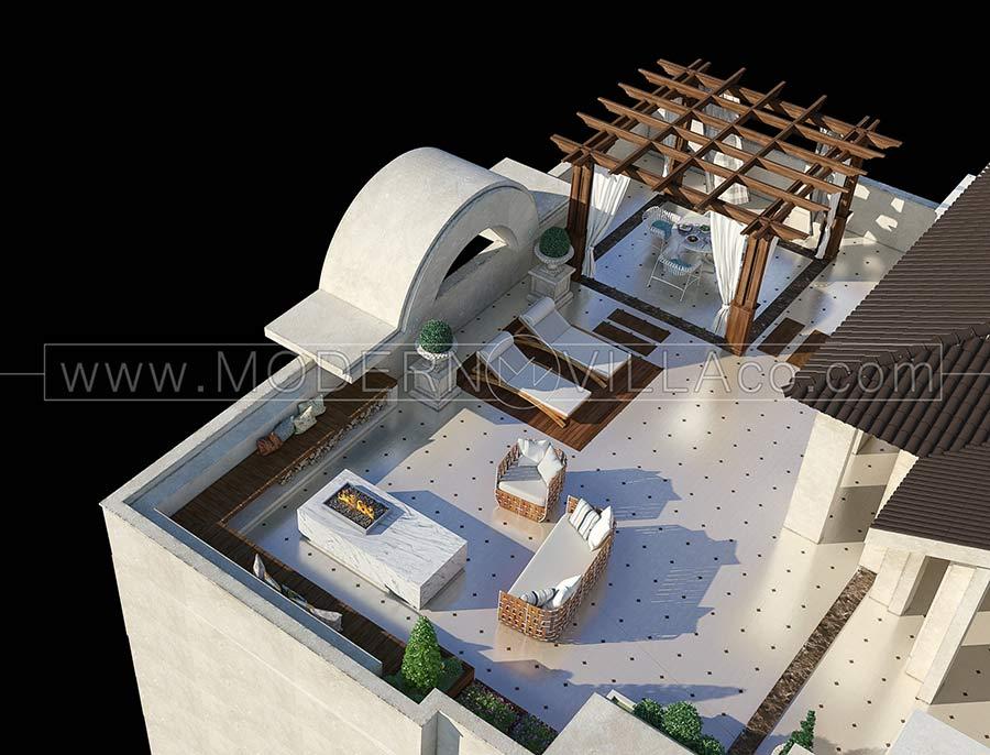 ویلا در کلاراباد طراحی محوطه ویلای شهرک امیردشت