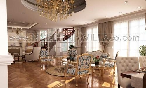 طراحی داخلی ویلای مشاء تهران