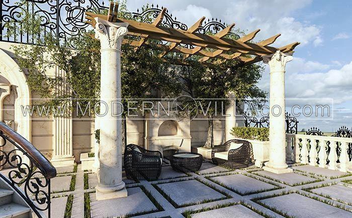 طراحی محوطه فضای سبز ویلای هشت بهشت دماوند