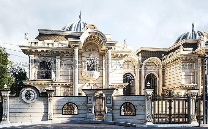 طراحی نمای ویلا کلاسیک