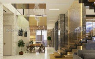 طراحی داخلی ویلا مدرن و کلاسیک