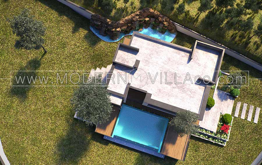 ویلا در رویان-طراحی ویلا در رویان-روستای لزیر