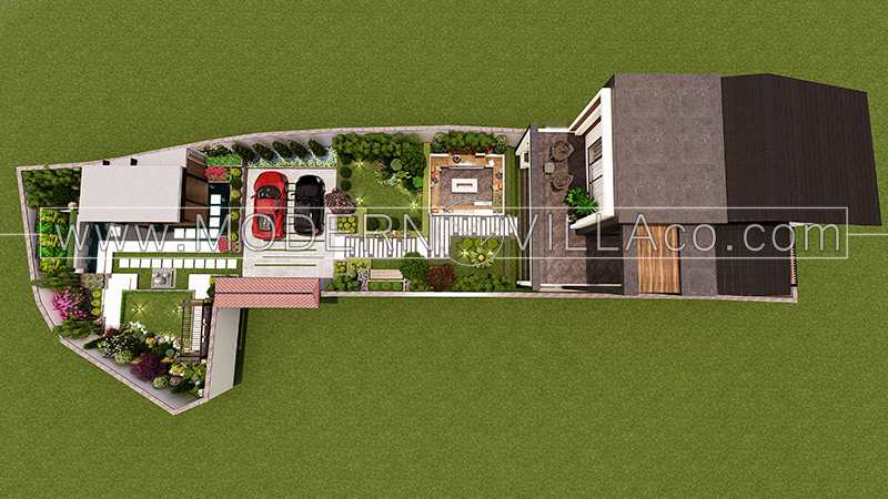 طراحی محوطه ویلا در رامسر