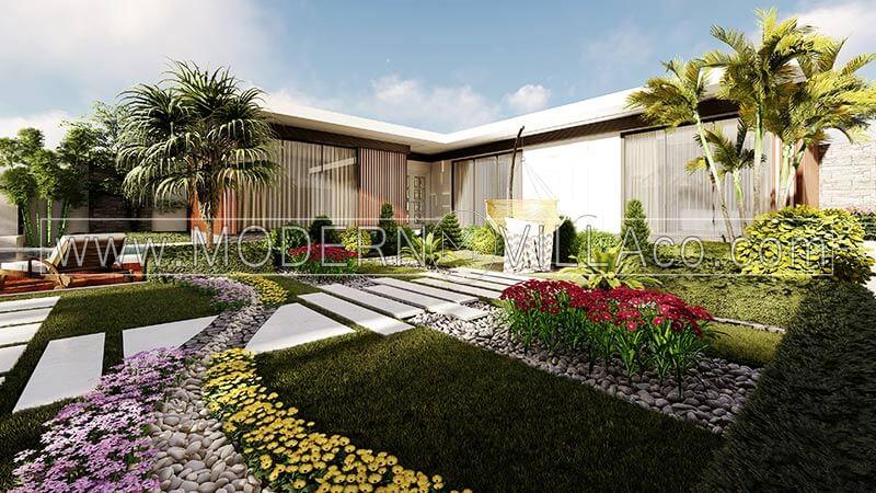 محوطه سازی باغ ویلا