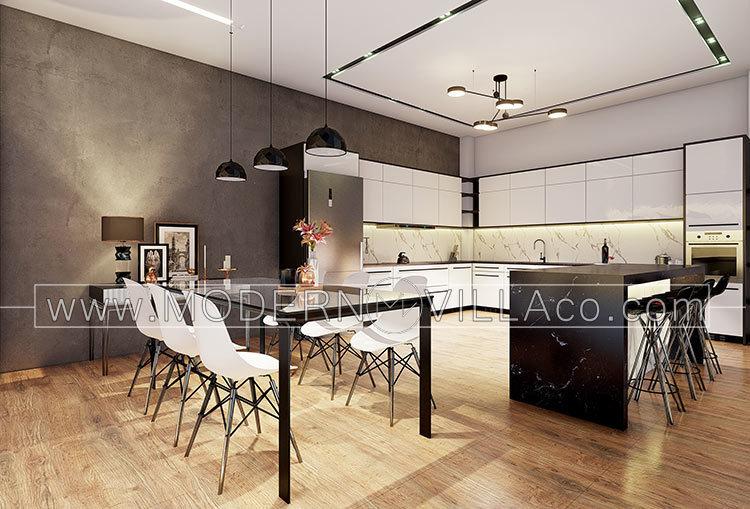 طراحی داخلی آشپزخانه ویلایی