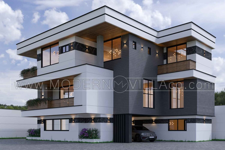 نمونه طراحی ویلا شرکت مدرن ویلا