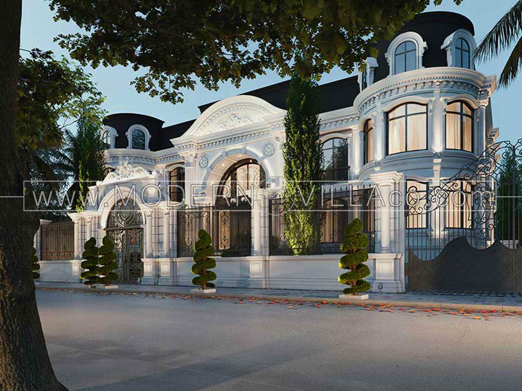 طراحی ویلا کلاسیک در شهریار