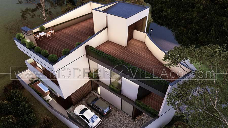 طراحی ویلا تریبلکس در دماوند