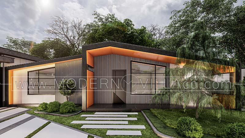 طراحی حیاط ویلا در طالقان