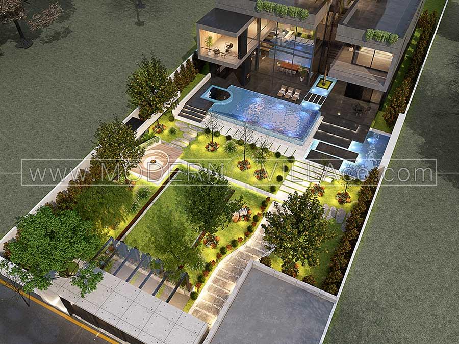 هزینه محوطه سازی باغ ویلا