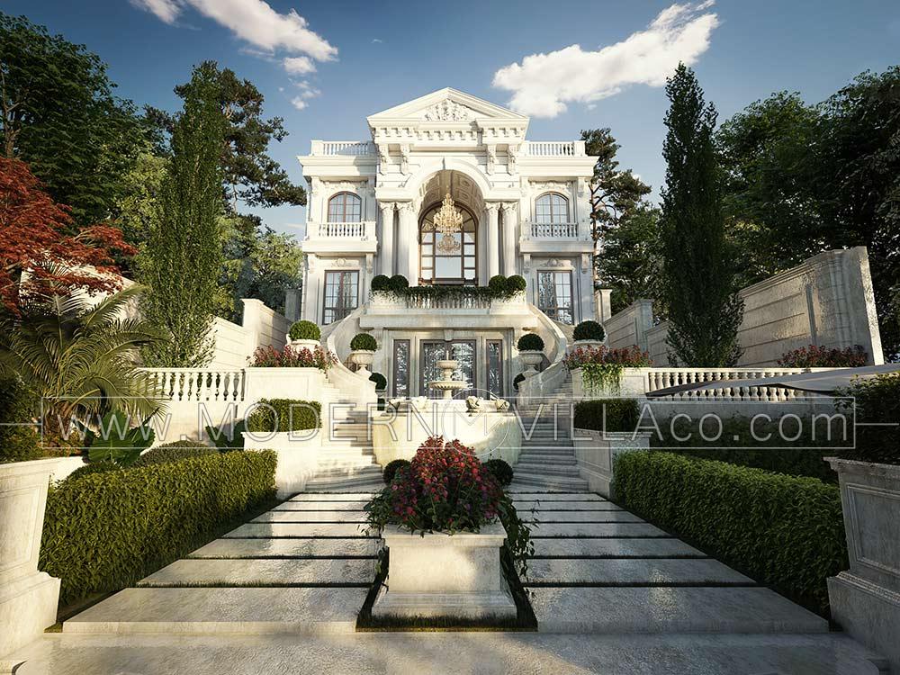 طراحی ویلای تریبلکس در شهرک هشت بهشت