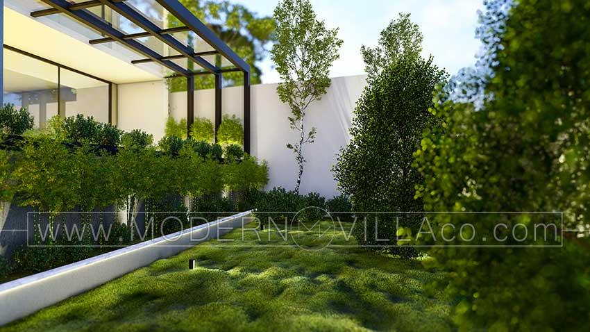طراحی نمای ویلای آپارتمانی در کلاردشت