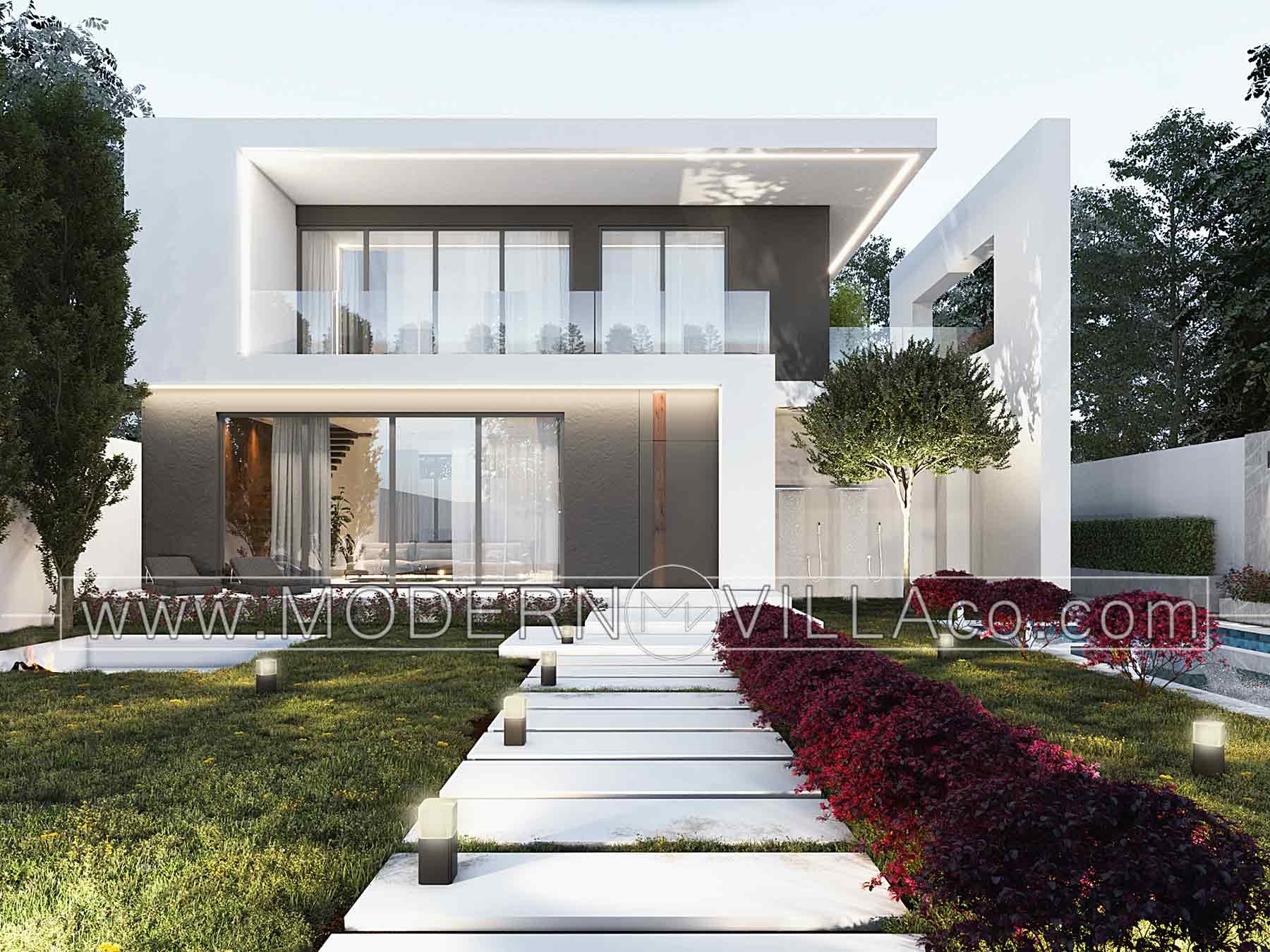 طراحی ویلای مدرن در روستای رامجین چهارباغ کرج