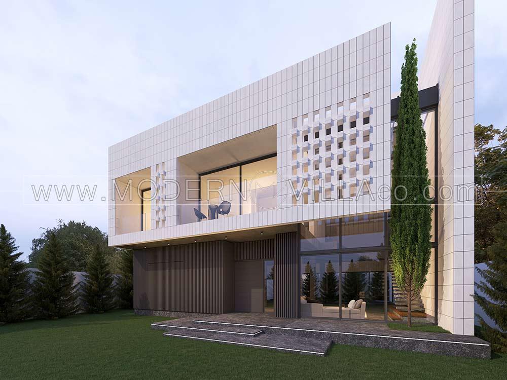 پروژه طراحی ویلای مدرن در کردان