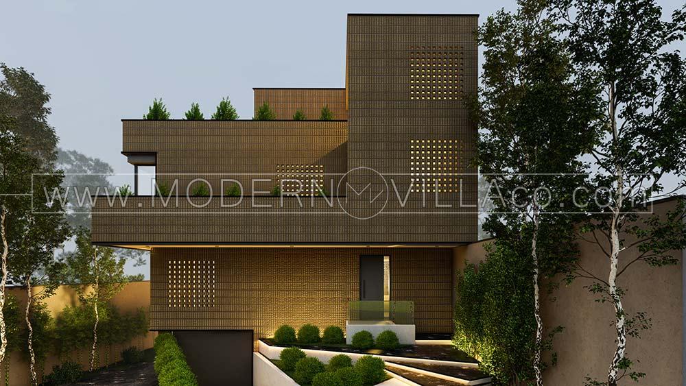 پروژه طراحی ویلا در چندار کردان