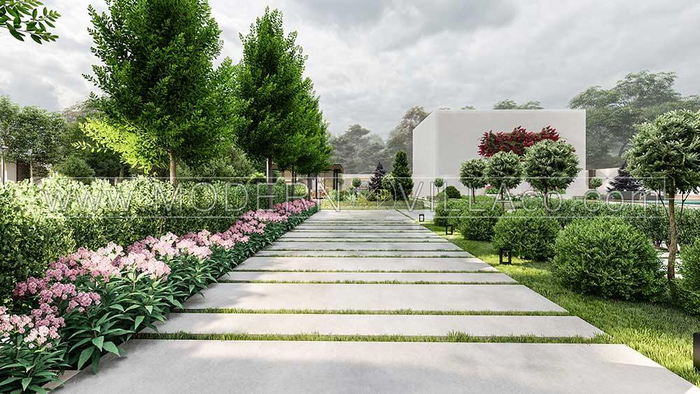 پروژه محوطه سازی ویلا در ماهدشت
