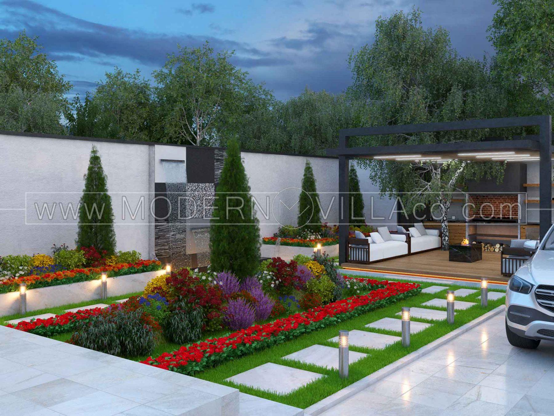 پروژه طراحی محوطه ویلا در شهریار