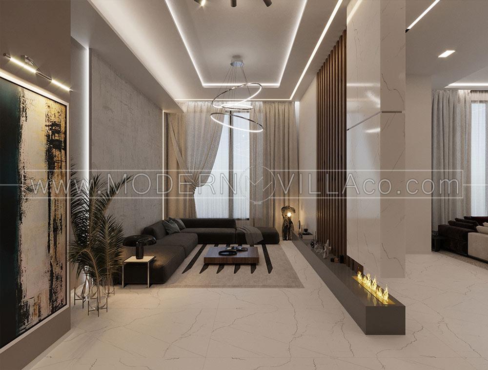 ویلا در شهریار، طراحی محوطه و داخلی